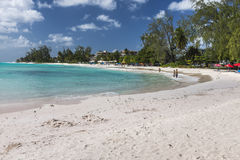 Plage Barbade les Antilles d'Accra Image stock