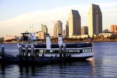 Plage, bateau, San Diego, Ca Photo libre de droits