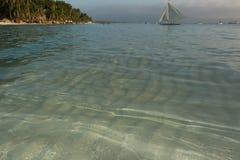Plage blanche, île de Boracay, Philippines Images libres de droits