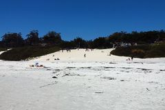 Plage blanche de Carmel de sable photo libre de droits