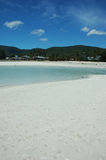 Plage blanche de sable Photo stock