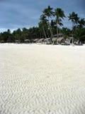 Plage blanche de sable Photo libre de droits