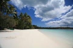 Plage blanche de sable Photographie stock