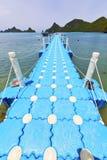 Plage blanche r de pilier de kho de l'Asie de lomprayah d'île phangan de baie Photographie stock
