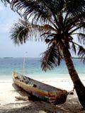 Plage blanche tropicale de sable Image stock