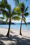 Plage blanche tropicale parfaite de sable Images libres de droits