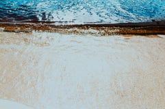Plage bleue de paradis de l'eau de vintage Photos stock