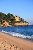 plage brava costa de lloret mars Espagne Photographie stock