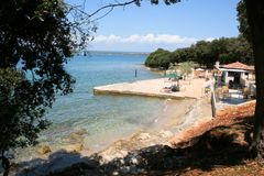 Plage, Brioni, Croatie Photo stock