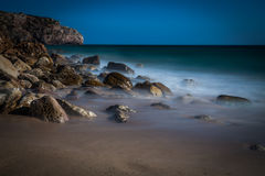 Plage brumeuse Images stock