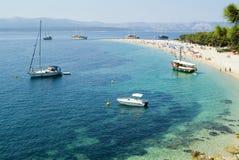 Plage célèbre en Croatie Image libre de droits
