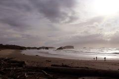 Plage côtière de l'Orégon Images libres de droits