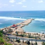 Plage cachée Bali photos stock
