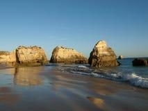 Plage chez Algarve Photographie stock
