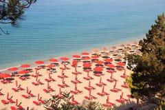 Plage chez Argostoli de Kefalonia en Grèce images stock