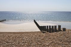 Plage chez Bognor REGIS. Le Sussex. LE R-U Images stock