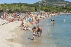 Plage chez Cote d'Azur, France Images stock