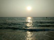 Plage chez la Mer d'Oman Photos libres de droits