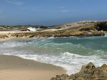 Plage chez Punta Sur Photo libre de droits