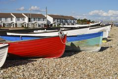 Plage chez Selsey. Le Sussex occidental. LE R-U Photographie stock libre de droits