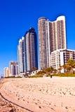Plage chez Sunny Islands, Miami tôt Image libre de droits