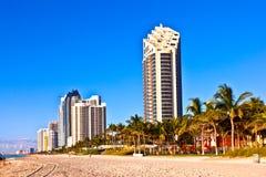 Plage chez Sunny Islands, Miami tôt Photographie stock