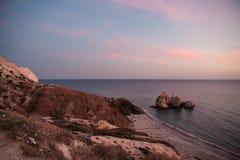 Plage Cliifs de la Chypre Images libres de droits