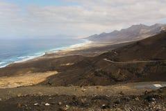 Plage Cofete de paysage Photo libre de droits