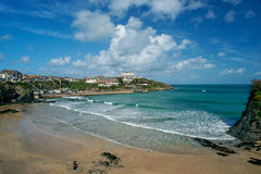 plage Cornouailles newquay Photo stock