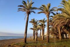 Plage Costa del Sol (côte du Sun), Malaga en Andalousie, Espagne Photographie stock