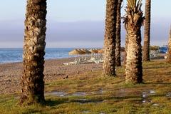 Plage Costa del Sol (côte du Sun), Malaga en Andalousie, Espagne Images stock