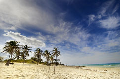 Plage cubaine - Santa Maria Del Mar photos stock