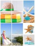 Plage d'été Photo libre de droits