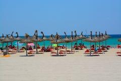Plage d'été de Majorque Images stock