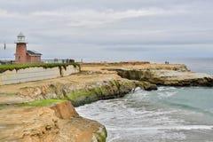Plage d'état de gisement de phare, Santa Cruz, la Californie image stock