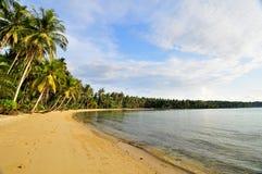 Plage d'île Image libre de droits