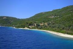 Plage d'île de Meganici Image libre de droits
