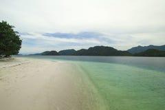 Plage d'île de Pagang photographie stock
