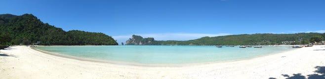 Plage d'île de phi de phi, panorama Photo stock