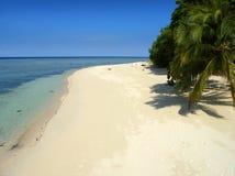 Plage d'île de Sipadan photographie stock