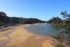 Plage d'Abel Tasman au Nouvelle-Zélande Photographie stock libre de droits