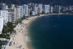 Plage d'Acapulco photos stock