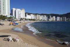 Plage d'Acapulco image stock