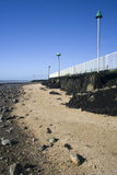 Plage d'accord, Canvey Island, Essex, Angleterre Images stock
