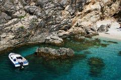Plage d'Aghiofili sur Lefkada, Grèce Photographie stock libre de droits