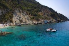 Plage d'Aghiofili sur Lefkada, Grèce Images stock