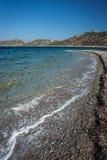 Plage d'Agios Pablos, Amorgos, Cyclades, Grèce Image stock