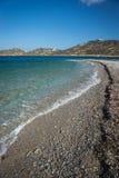 Plage d'Agios Pablos, Amorgos, Cyclades, Grèce Images libres de droits