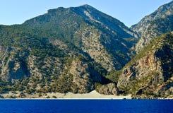 Plage d'Agios Pavlos Image stock