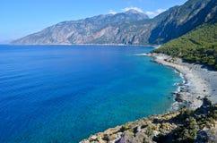 Plage d'Agios Pavlos Image libre de droits